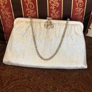 Vintage Silver Lamé Evening Bag